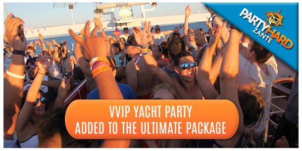 VVIP Yacht Party Added to the Ultimate Package